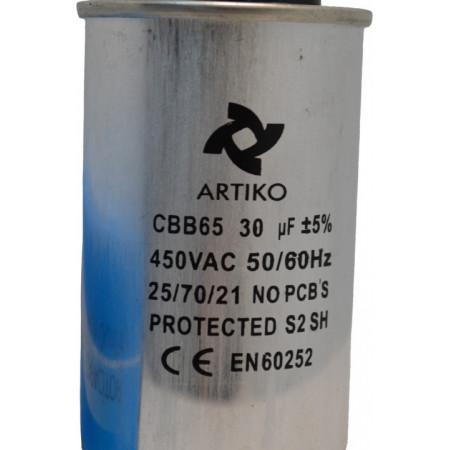Condensator Pornire Motor, CBB65, 30uF ,450V AC