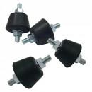 Set amortizoare, anti-vibratii din cauciuc, pentru unitatea externa a aparatului de aer conditionat