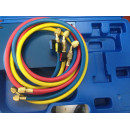 Trusa Completa Frigotehnie | VTB-5B-I - VALUE | Baterie Manometre R22, R134a, R407C, R410 | Bercuit | Menghina
