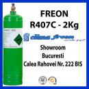 Freon R407c, 2 Kg, Butelie Reincarcabila, ENTALPIA Europe