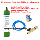 Kit Complet Incarcare Freon Auto R134a in regie proprie, Freon Auto Kit