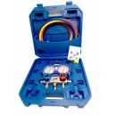 Set baterie manometre cu furtune incluse(160cm), Freon R22, R134a, R410A, R407C