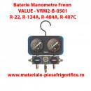 Set Baterie Manometre | Value - VRM2-B-0501 | Freon R22, R134A, R404A, R407C