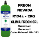 Butelie Freon R134a - 2KG - NEVADA