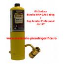 Kit Sudura Profesional, Butelie Mapp Gas 450g + Cap Arzator profesional JH-1ST