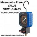 Manometru Freon de inalta presiune | Value VRM1-B-0403 | R22, R134a, R407C, R410A