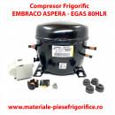 Compresor frigorific Embraco Aspera -EGAS 80HLR |EGAS 80 HLR | R134A | 220-240V/50-60Hz