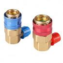 Set Cuple Rapide AC Auto QC-15 pentru Freon R134a