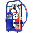 Statie profesionala de sudura 9Kg - Butelie Oxigen 2Kg si Butan 1 Kg Reincarcabile
