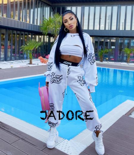 "Poze Trening 3 piese BAD GIRL BY ""Jadore "" cod B.G 01 alb"