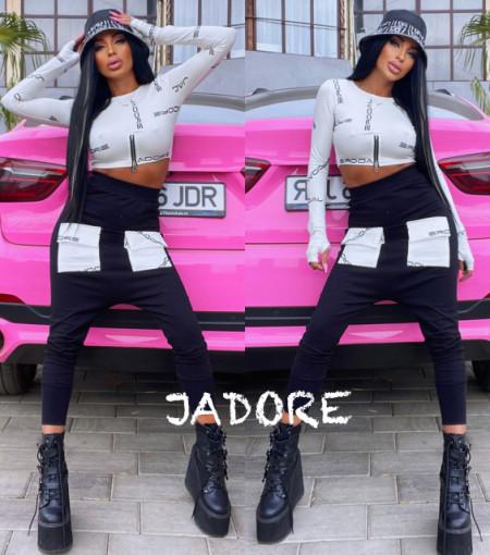 """Poze Trening by """" Jadore"""" cod 3790 alb/negru"""