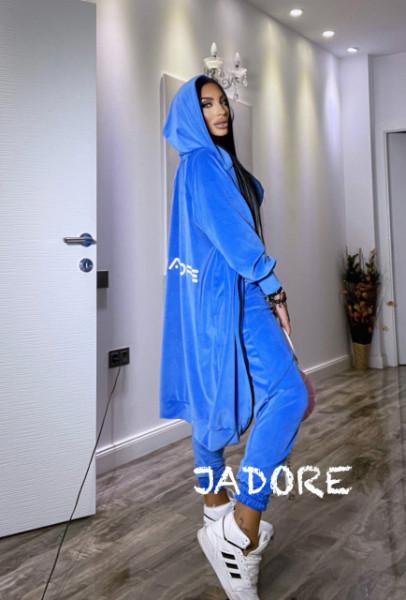 "Poze Set 3 piese din Catifea Soft by "" Jadore "" cod 3800 albastru"