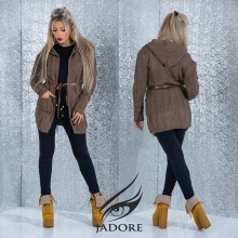 "Trench Gros din Pulover  by ""Jadore "" cod 8-3059 WB A"