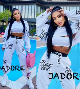 """Trening 3 piese BAD GIRL BY """"Jadore """" cod B.G 01 alb"""