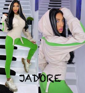 """Trening JDR BY """"Jadore"""" cod 3663 cream verde"""