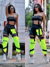 "Compleu 2 piese din Fas by ""Jadore"" cod 3509 neon verde neon"