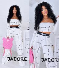 """Compleu 2 piese BY """"Jadore """" cod 3715 ivoire"""