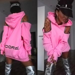 Hoodie Baby Pink by Jadore 3530 roz
