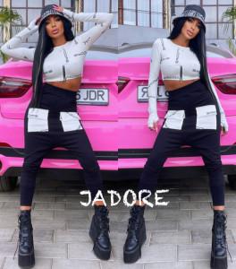 """Trening by """" Jadore"""" cod 3790 alb/negru"""