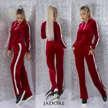 "Compleu 2 piese  din Catifea (Hanorac si Pantaloni) by ""Jadore "" cod 3084 WB T"