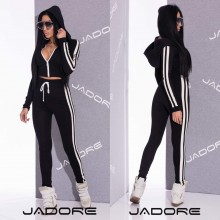 "Compleu 2 piese  by ""Jadore "" New Collection  2018 cod 3128 Negru A"