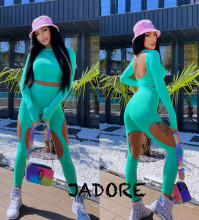 "Compleu 2 piese JDR BY ""Jadore"" cod 3686 vernil"