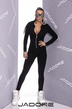 "Salopeta din Bumbac Gros Elastic si Fermoar Metalic Lung by ""Jadore "" New Collection 2018 cod 3126 Black A"