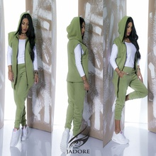 "Compleu Gros din 2 piese (trench si pantaloni) "" by JadoreAccessorize"" cod 2273 Verde Army T"