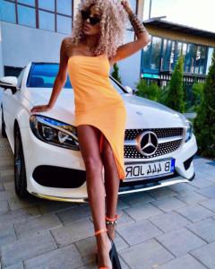 Rochie JDR cod 3594 portocaliu