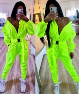 """Salopeta din Fas) neon by """"Jadore"""" cod 3518 verde neon LX T R"""