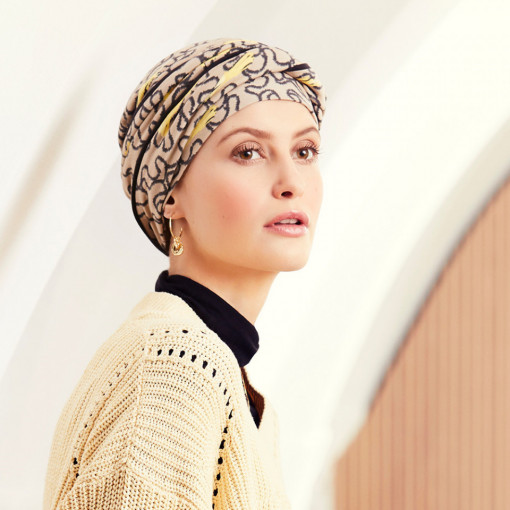 EMMY turban, Twirls&Splashes, Viva Headwear, Onconect