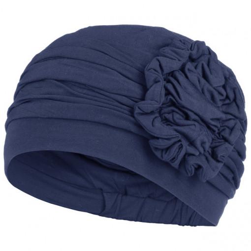LOTUS turban, Dark Blue, Christien Headwear