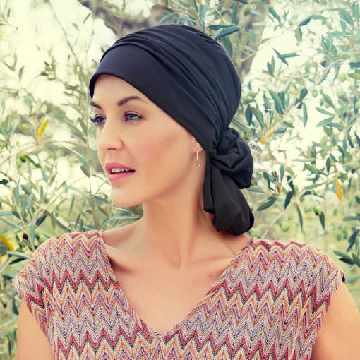 Mila turban, Black, Bumbac Caretech Supima