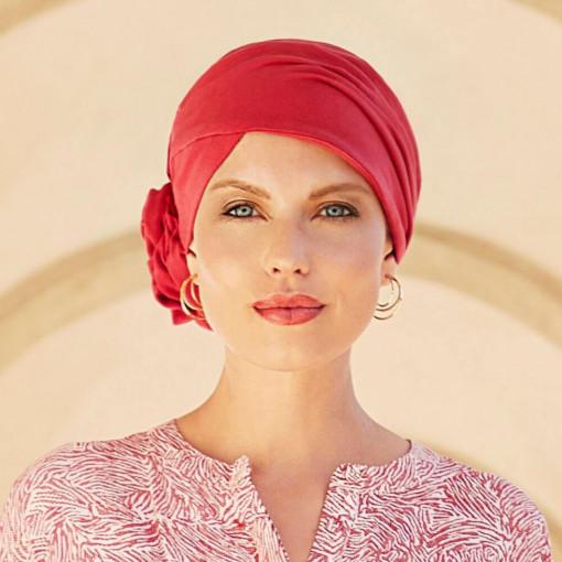 Zuri turban, Lipstick Red, Bumbac Caretech Supima