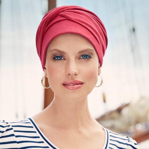 Mila turban, Red Lipstick, Bumbac Caretech Supima