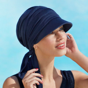 BB Briana turban, Dark Blue - colectia Sun, Lana/Poliester