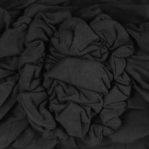 LOTUS turban, Black detaliu floare