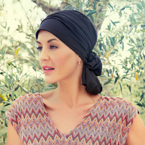 Mila turban, Black, Bumbac Caretech Supima