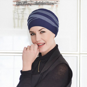 Shanti turban, Dark Blue/Light Lilac, Vascoza din bambus