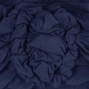LOTUS turban, Dark Blue detaliu floare