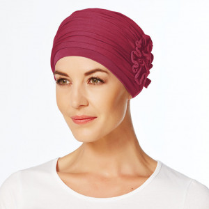 LOTUS turban, Red Bud, Vascoza din bambus