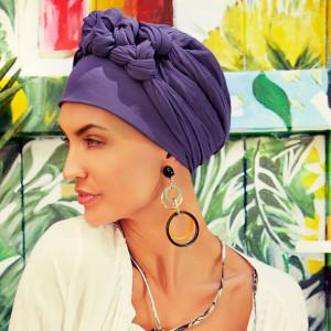 Turban Set BOHO SPIRIT SAPPHIRE, Crown Blue, Rayon