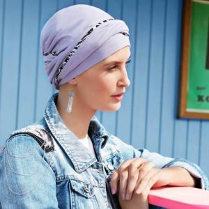 EMMY turban, Lavender, Bumbac/Vascoza