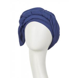 Turban Set BOHO SPIRIT SAPPHIRE, Crown Blue, Rayon_2