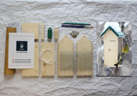 Hrănitoare DIY Hortieco - Kit, Cutia cu aripi - Kit hrănitoare DIY