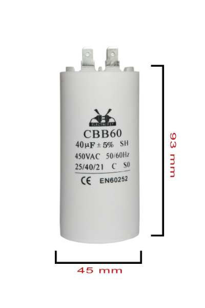 condensator pornire 40 μF 450 V