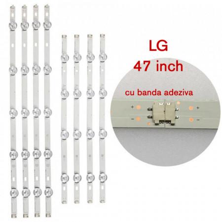 Set barete led TV LG 47 inch, 8 barete 4 si 5 leduri, INNOTEK DRT 3.0 47'' TYPE REV02, 47LB