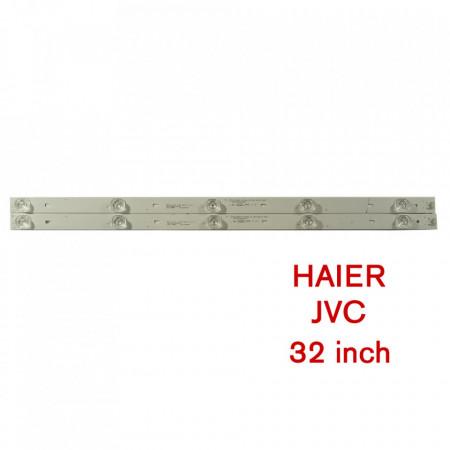Set barete led tv Haier, JVC, 32 inch, doua barete de 5 leduri, LED32D05-ZC23AG-01 PN 30332005207