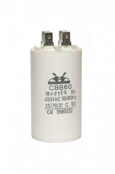 condensator pornire 18 μF 450 V