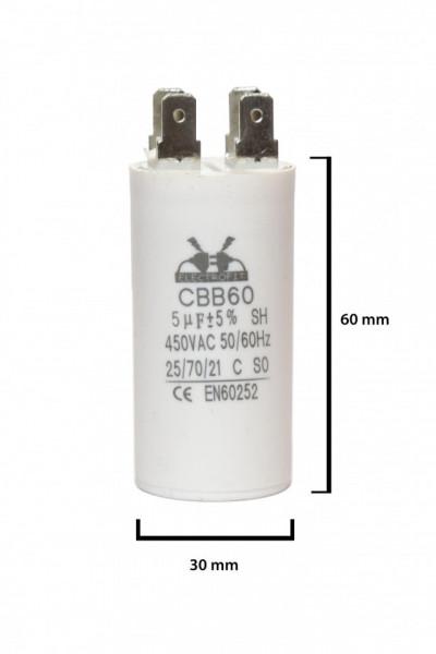 condensator pornire 5 μF 450 V